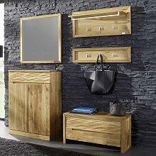 Garderobenkombination aus Wildeiche Massivholz