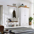 Garderobenkombination in Weiß Kieferfarben