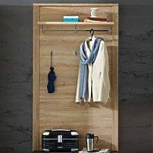 Garderobenpaneel Eiche hell, Holz, hellbraun,