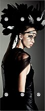 Garderobenpaneel Frau mit Kopfschmuck (B/H):