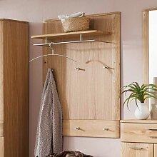 Garderobenpaneel in Eiche Bianco 90 cm breit