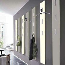 Garderobenpaneel mit Klapphaken Weiß