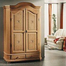 Garderobenschrank aus Fichte Massivholz abschließbar