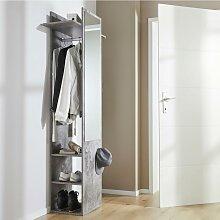 Garderobenschrank in Graphit 'Aldona'