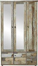 Garderobenschrank in Grau Treibholz Dekor