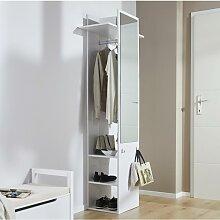 Garderobenschrank in Weiß 'Aldona'