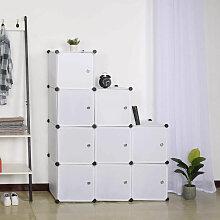 Garderobenschrank Lagerregal mit Tür
