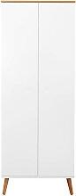 Garderobenschrank - Scandi - Weiß