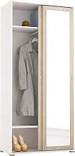 Garderobenschrank Slide Spiegel, mit Spiegel