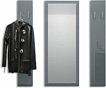Garderobenset Garderobe Spot in Grau Hochglanz