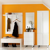 Garderobenset in Weiß Hochglanz modern (6-teilig)