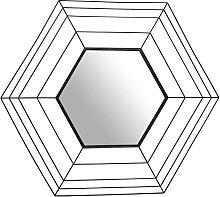 Garderobenspiegel mit Metallrahmen in Schwarz