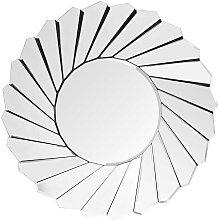 Garderobenspiegel rund Spiegelglas und Metall