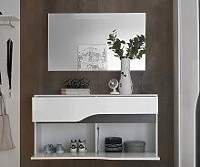 Garderobenspiegel Willa 102x60 cm Silber grosse