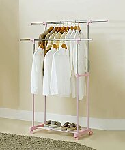 Garderobenständer Kleiderstange Doppelstange