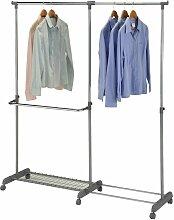 Garderobenwagen MERAN grau/silber h