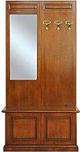 Garderobepaneel mit Truhe und Spiegel