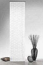 Gardine Flächenvorhang in Batist-Optik Blumen grafisch in weiß halbtransparent HxB 245x60 cm - Schiebegardine Ausbrenner Modern Chic Natur ...auspacken, aufhängen, fertig! Schiebevorhang Typ325