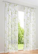 Gardine mit floralem Druck (1er Pack), grün (H/B: