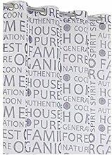 Gardine Mit Wörter Bedruckt Modern 140 X 280 Lila