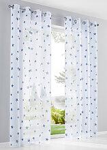 Gardine Sterne (1er-Pack), weiß (H/B: 175/144 cm)