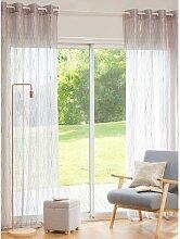Gardine taupe goldfarben 140x250, 1 Vorhang