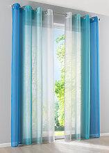 Gardine Verlauf (2er-Pack), blau (H/B: 225/144 cm)
