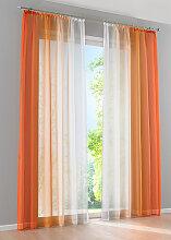 Gardine Verlauf (2er-Pack), orange (H/B: 145/144 cm)