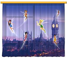 Gardine/Vorhang FCC xl 6314 Kinderzimmer Disney Fairies