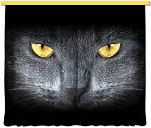 Gardine/Vorhang FCC xxl 4410 Kinderzimmer Katze