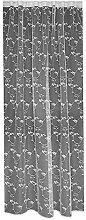 """Gardine, Vorhang, Schlaufenschal, Store Maßanfertigung in Weiss """"""""Ranken Design"""""""" Höhe: 220cm, Breite:freiwählbar (220x340cm)"""