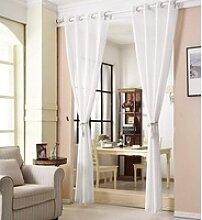 Gardine, Woltu, Vorhang mit Ösen,transparent(1