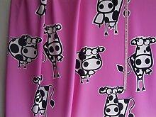 Gardinen Dekostoff pink coole Kuh in schwarz weiß
