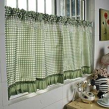 Gardinen,Die Hälfte eine kurze Küche Vorhang