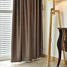 Gardinen,Einfache moderne geschnitzt Volltonfarbe grün Stoff Vorhänge Helles Wohnzimmer Schlafzimmer Vorhänge-B 300x270cm(118x106inch)