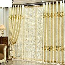 Gardinen,Einfache Wildleder heißen gold Vorhänge