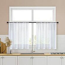 Gardinen für Badezimmer, transparent, 76,2 cm