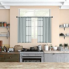Gardinen für die Küche, 91,4 cm Länge, Voile,