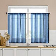 Gardinen für Küchen, durchsichtig, 86,4 x 91,4