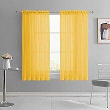 Gardinen für Mädchenzimmer, goldgelb, 160 cm,