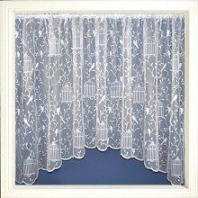 Gardinen, jardiniere Spitzenvorhang Panel, Songbird, 381cm x 122cm, weiß
