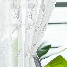 Gardinen mit Blättern, bestickt, 213,4 cm lang,