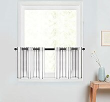 Gardinen mit Streifen für Küche, 76,2 x 61 cm