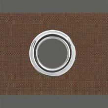 Gardinen Ösenband - zum annähen (100 mm, braun)