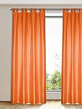 Gardinen Outlet Schlaufenschal Orange - Im 2er Pack