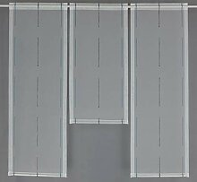 Gardinen Röttger Miniflächen-Set anthrazit