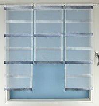 Gardinen Röttger Miniflächen-Set Organza blau