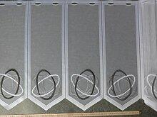 Gardinen Röttger Scheibengardinenstoff grau weiß
