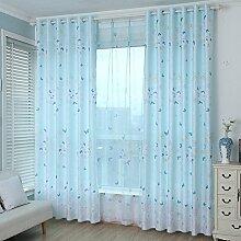 Gardinen, Rosa Garten Vorhang Prinzessin Schlafzimmer Stock Air Curtains Blackout Schatten Vorhang-B 200x270cm(79x106inch)