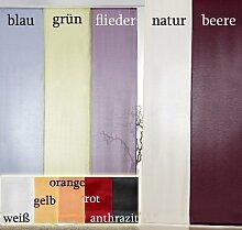Gardinen Schiebegardine Flächenvorhang Flächengardine Schiebevorhang, Farbe Flieder, Höhe 245cm x Breite 60cm Typ118